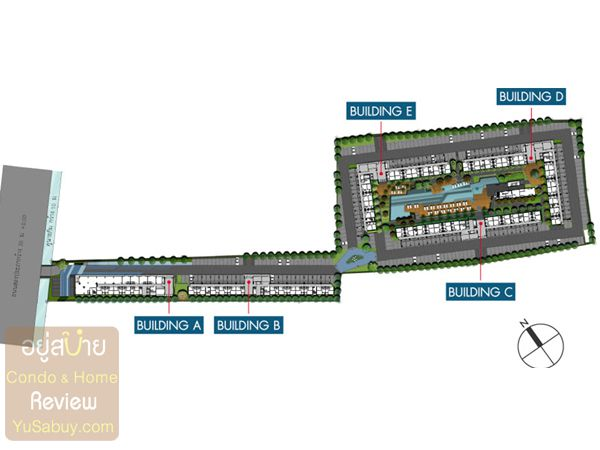 ผังโครงการ Happy Condo Donmuang the Theminal