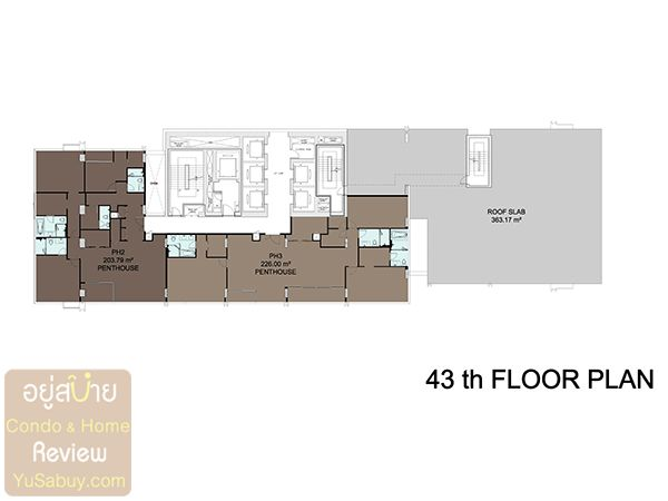 Floor Plan ชั้น 43 คอนโด Circle 2 Living Prototype