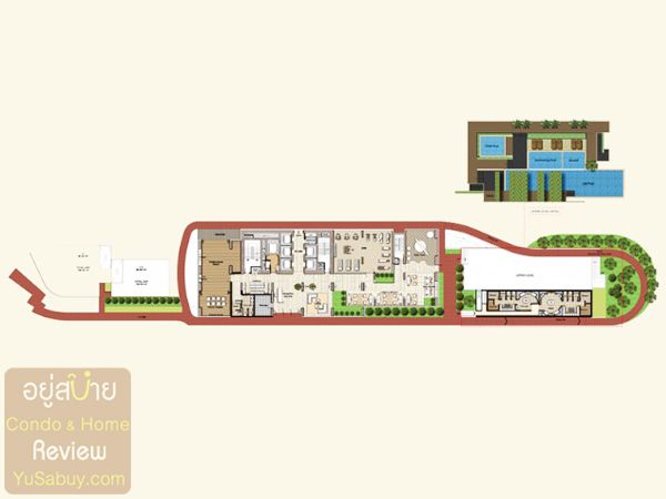 Floor Plan ชั้น 5 (Facilities floor) คอนโด Circle 2 Living Prototype