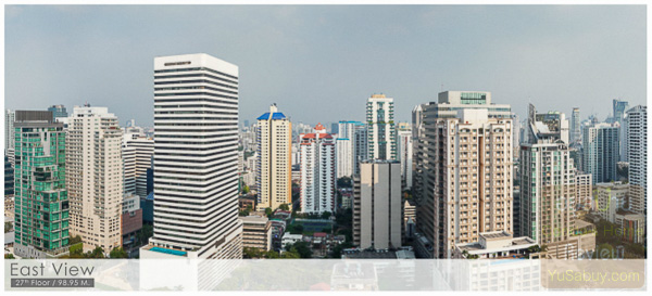 Noble BE19 Sukhumvit 19_Floor 27_East view