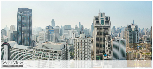 Noble BE19 Sukhumvit 19_Floor 27_West view