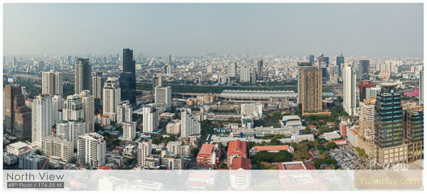 Noble BE19 Sukhumvit 19_Floor 48_North view