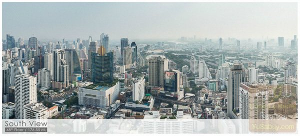 Noble BE19 Sukhumvit 19_Floor 48_South view