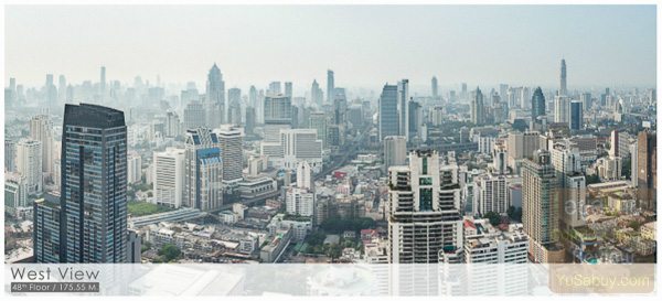 Noble BE19 Sukhumvit 19_Floor 48_West view