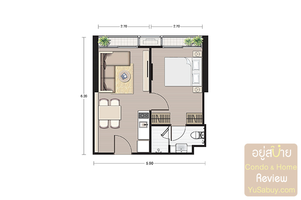 Noble BE19_1 bedroom 34.96 Sqm