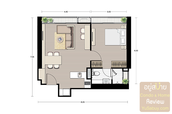 Noble BE19_1 bedroom 50.21 Sqm