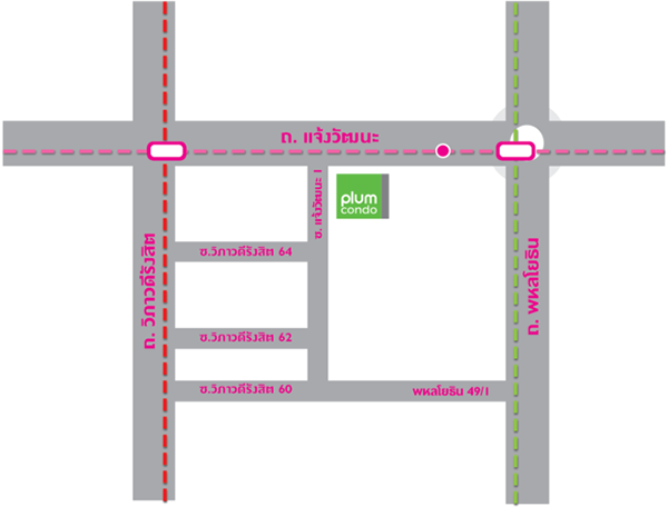 Plum Condo Chaengwattana Station_map