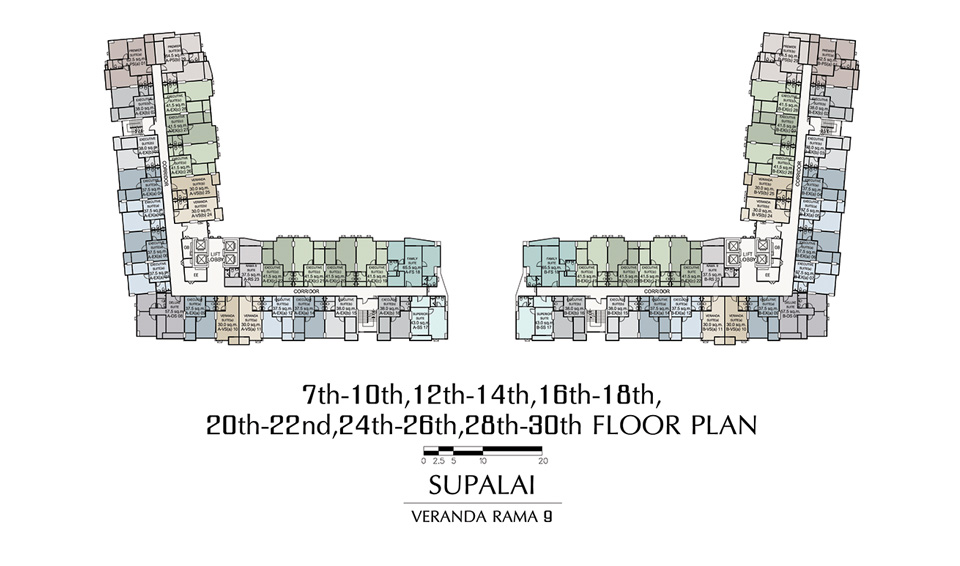 Typical Floor Plan Supalai Veranda Rama 9