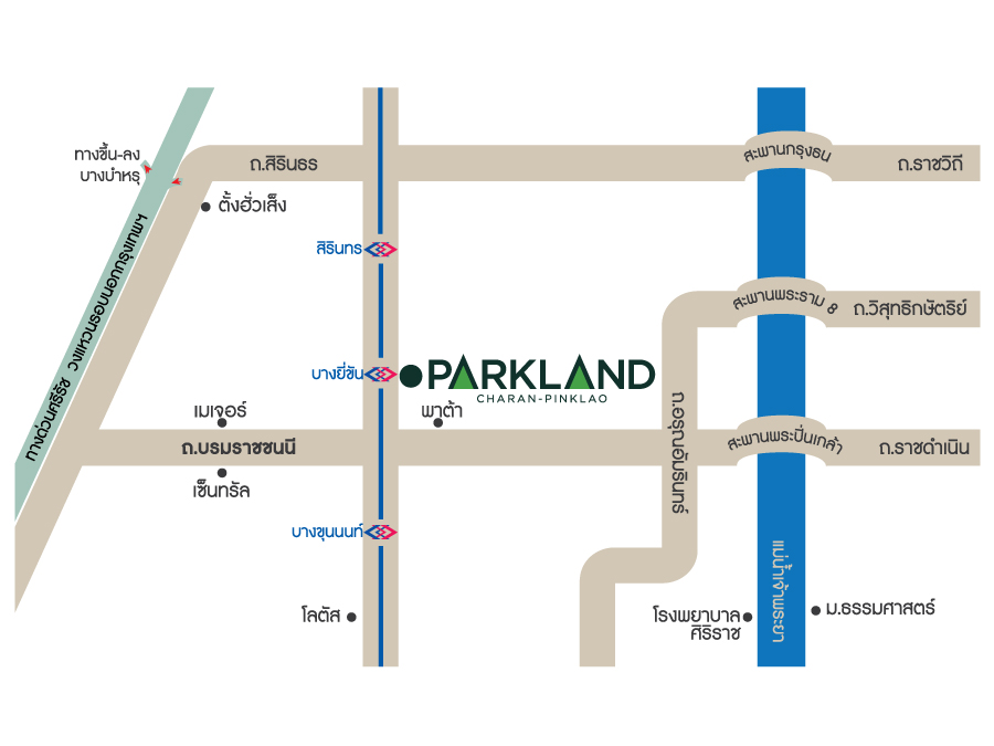The-Parkland-Charan-Pinklao---Map