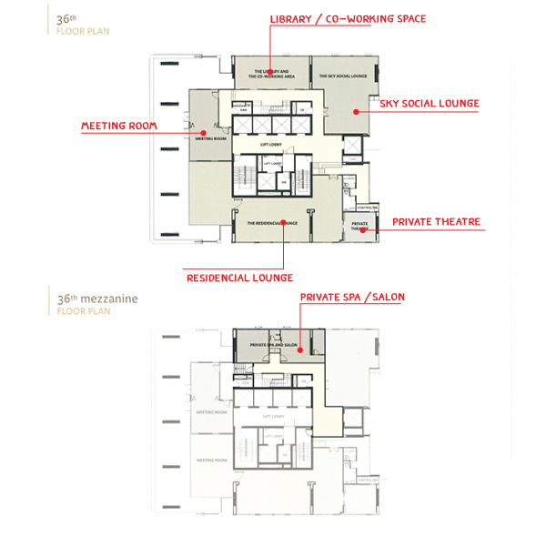 Floor Plan The Esse at Singha Complex ชั้น 36