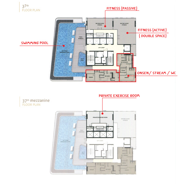 Floor Plan The Esse at Singha Complex ชั้น 37
