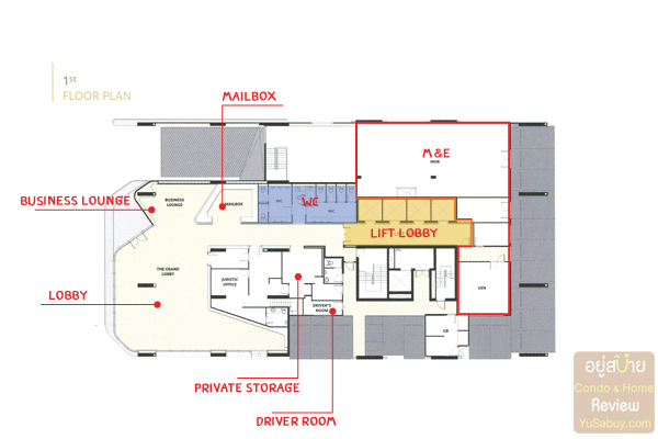 Floor Plan The Esse at Singha Complex ชั้น1