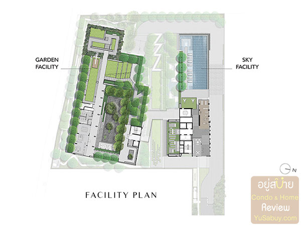 Facility Plan คอนโด Chapter One Shine Bang Po
