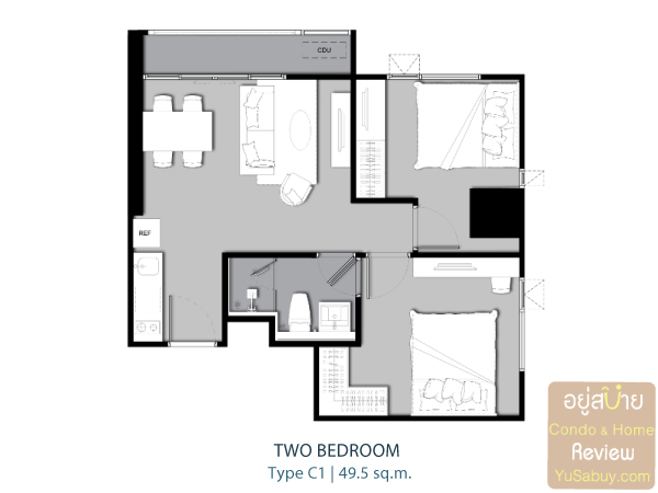 Life-Ladprao-Type-C1-Two-Bedroom