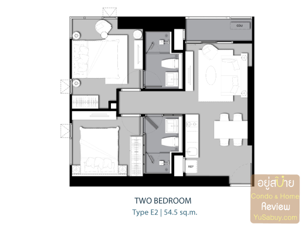 Life-Ladprao-Type-E2-Two-Bedroom