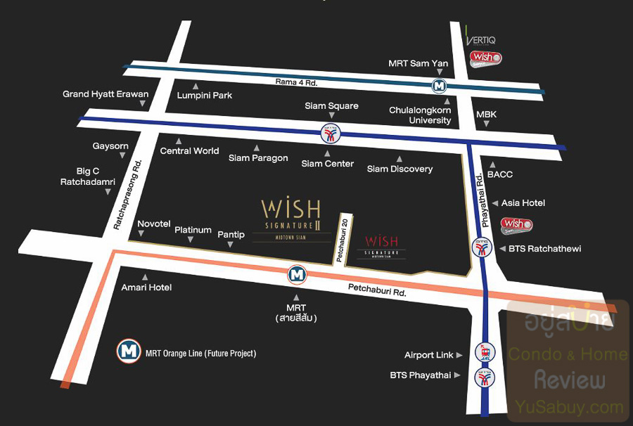 Wish Signature 2 Midtown Siam - Map