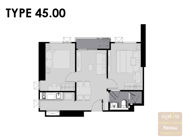 Life Asoke Rama 9 Room Plan-01