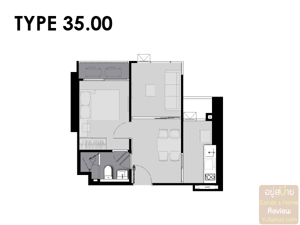 Life Asoke Rama 9 Room Plan-02
