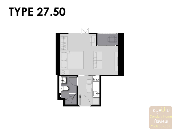 Life Asoke Rama 9 Room Plan-03