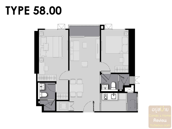 Life Asoke Rama 9 Room Plan-05