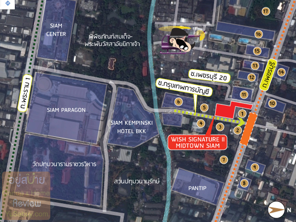 Wish-Signature-II-Midtown-Siam-Map-3