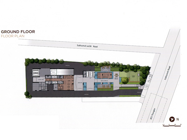 Floor Plan THE ESSE SUKHUMVIT 36 ชั้นที่ 1