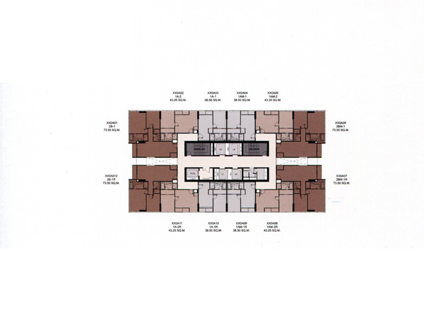 Floor Plan THE ESSE SUKHUMVIT 36 ชั้นที่ 10-35