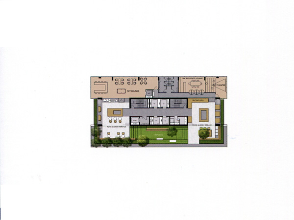 Floor Plan THE ESSE SUKHUMVIT 36 ชั้นที่ 41