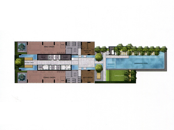 Floor Plan THE ESSE SUKHUMVIT 36 ชั้นที่ 7