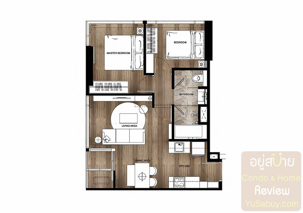 Siamese Exclusive 42 - 2Bedroom 2A