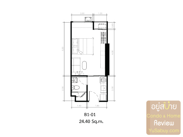 KnightsBridge-Collage-สุขุมวิท-107-Room-Plan-B1