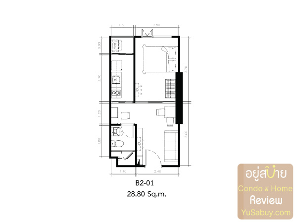 KnightsBridge-Collage-สุขุมวิท-107-Room-Plan-B2