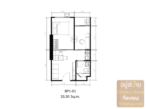 KnightsBridge-Collage-สุขุมวิท-107-Room-Plan-BP1