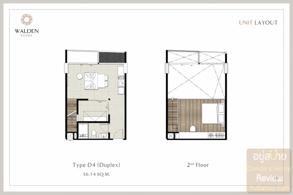 Walden Asoke Room Plan - (ภาพที่ 2)