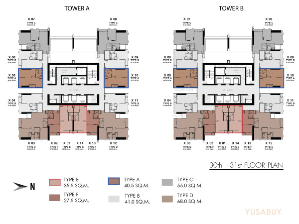 one9five-Floor-plan-30-31th