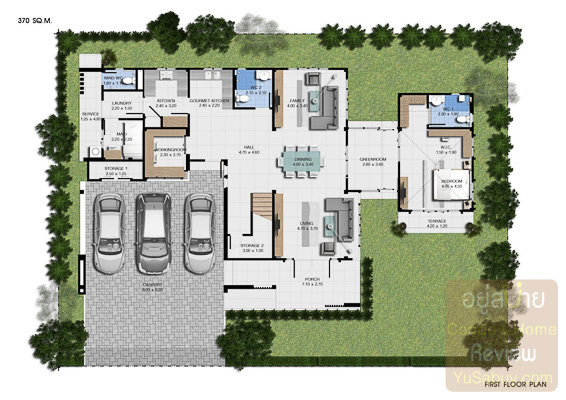NC on green charm floor plan Luxx