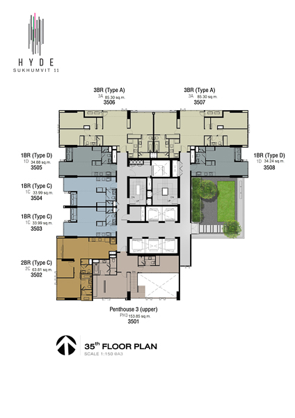 Floor Plan Hyde Sukhumvit 11 (ชั้นที่ 35)