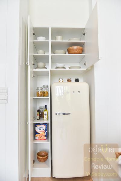 Noble BE19 Sukhumvit ห้องครัว แบบ 1 ห้องนอน 50.21 ตารางเมตร