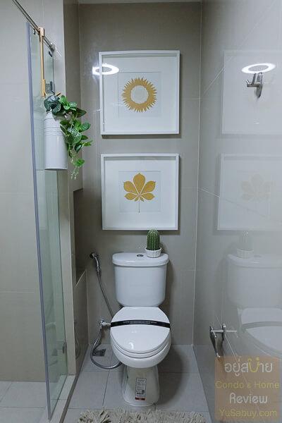 ห้องน้ำคอนโด Chapter One Shine Bang Po (แชปเตอร์วัน ชายน์ บางโพ)