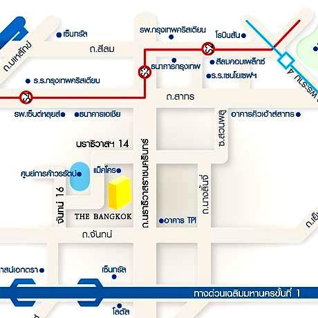 Map The Bangkok Narathiwas