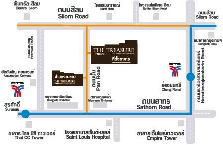 แผนที่ The Treasure Silom