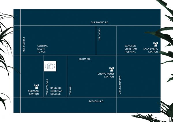 Map The Lofts Silom