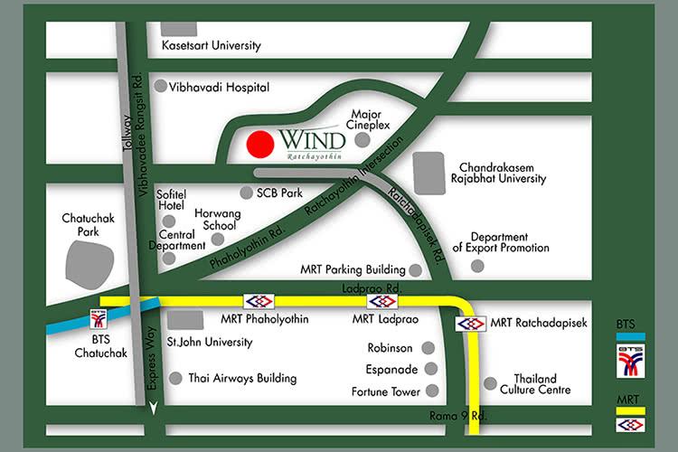 วินด์ รัชโยธิน Wind Ratchayothin map