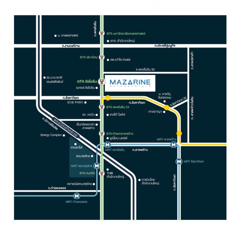 Mazzarine Ratchayothin Map