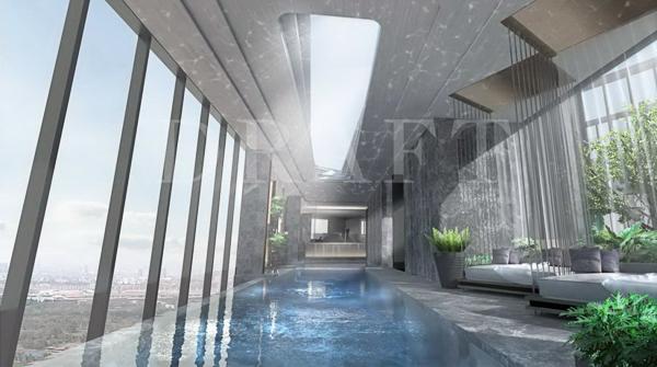 สระว่ายน้ำคอนโด The Crest Park Residences