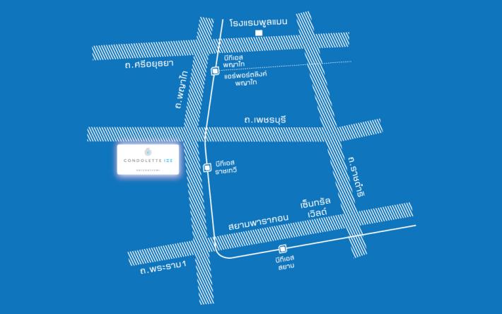 Map Condolette Ize Ratchathewi