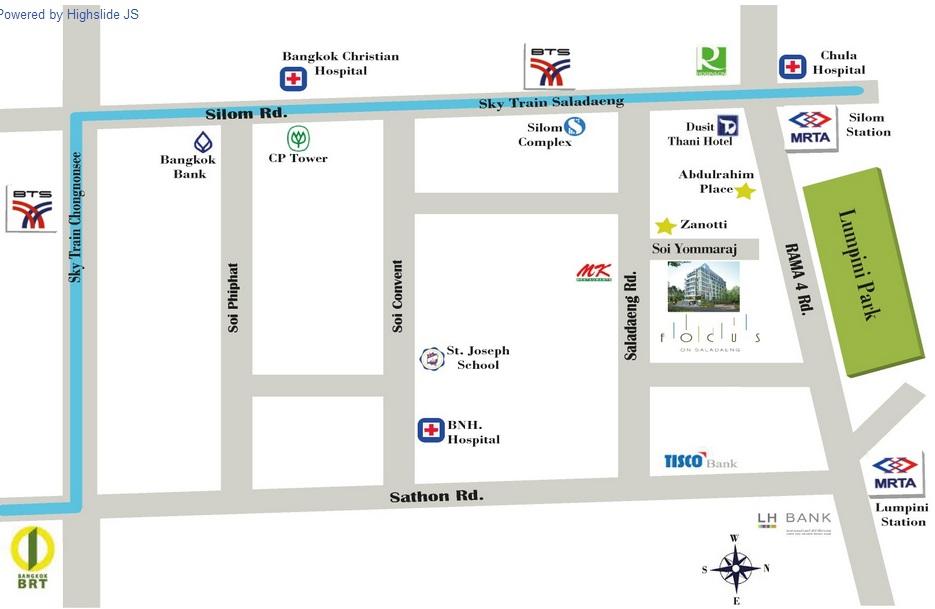Map Focus on Saladaeng
