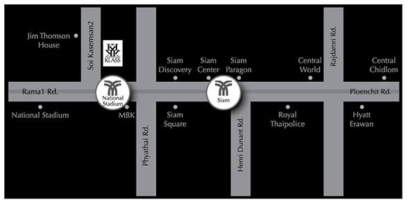 Map Klass Condo Siam
