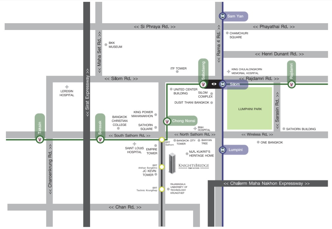 Map KnightsBridge Prime Sathorn