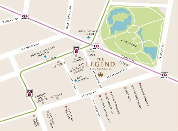 Map The Legend Saladaeng